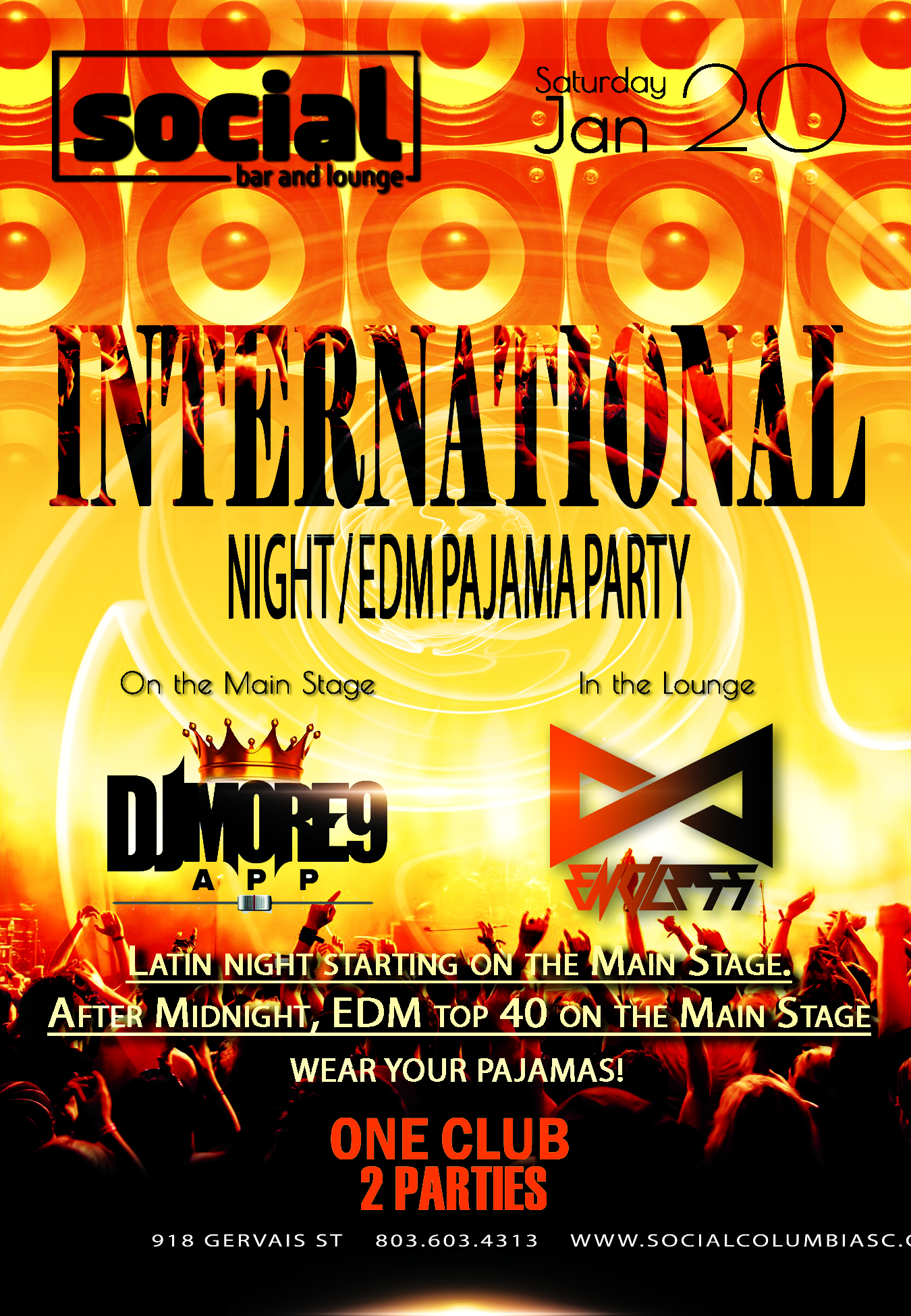 International Night. An EDM Pajama Party