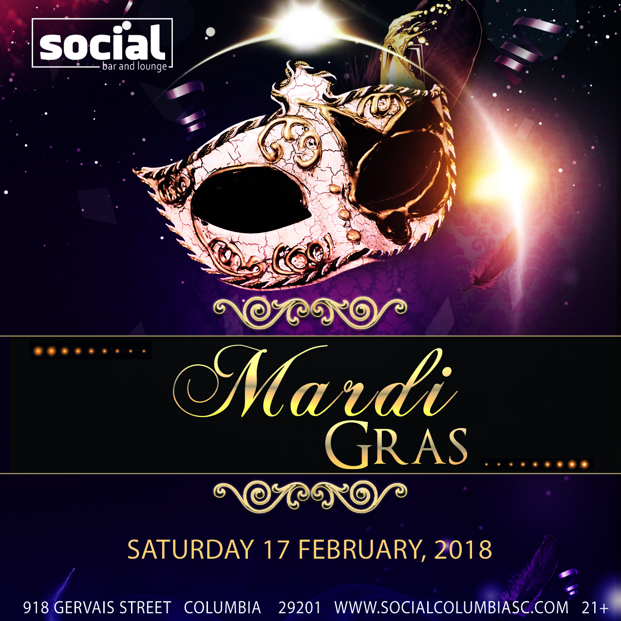 Mardi Gras at Social